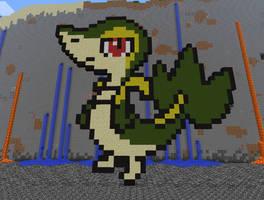 Minecraft Art: Snivy by 04porteb