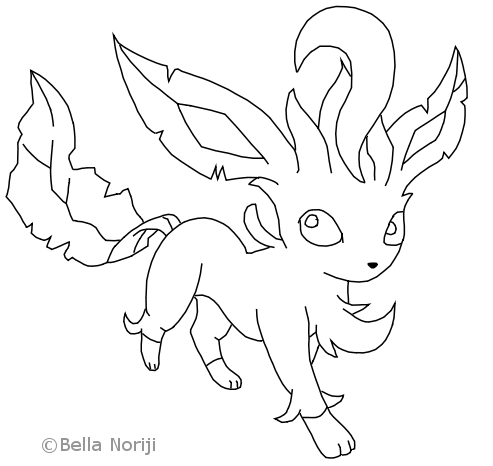 Pokemon Leafeon Coloring Pages