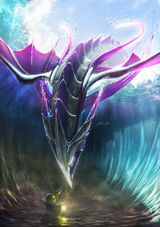 L'image du jour ! Leviathan_and_tonberry___ffix_by_yoshiyaki-d5h3b1y
