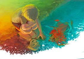 Girl Underwater by yoshiyaki