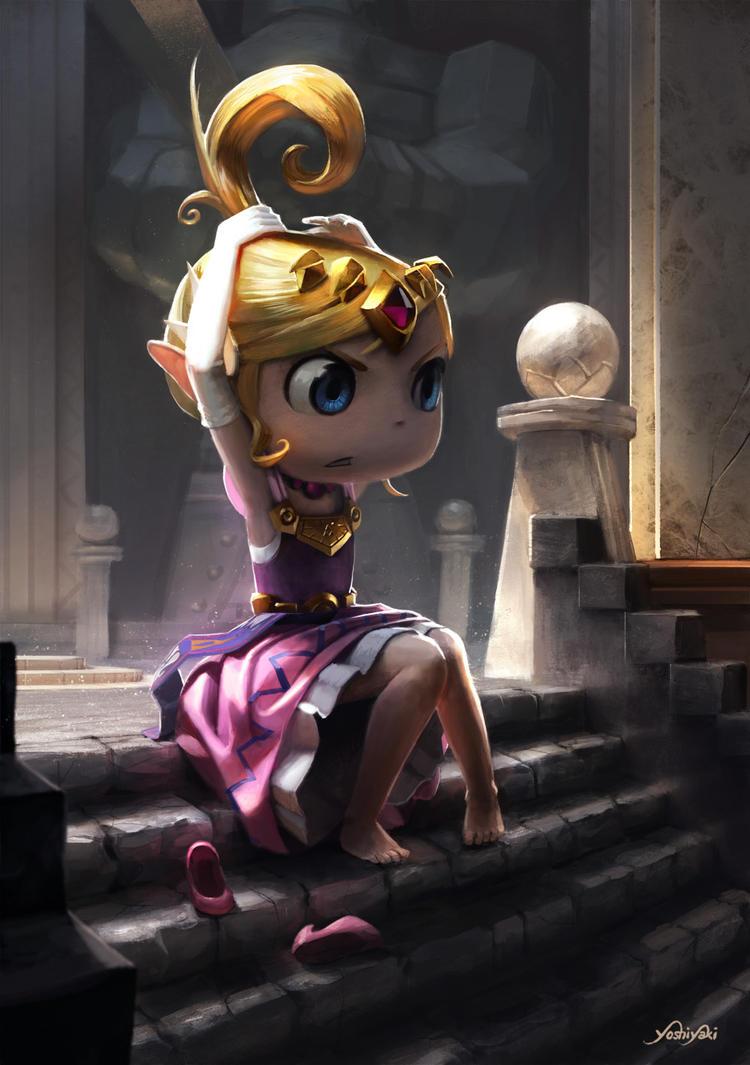 Princess Zelda - Wind Waker by yoshiyaki
