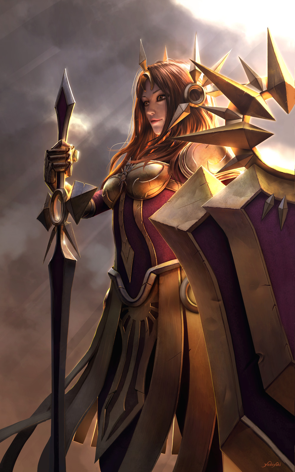 Leona - League of Legends by yoshiyaki