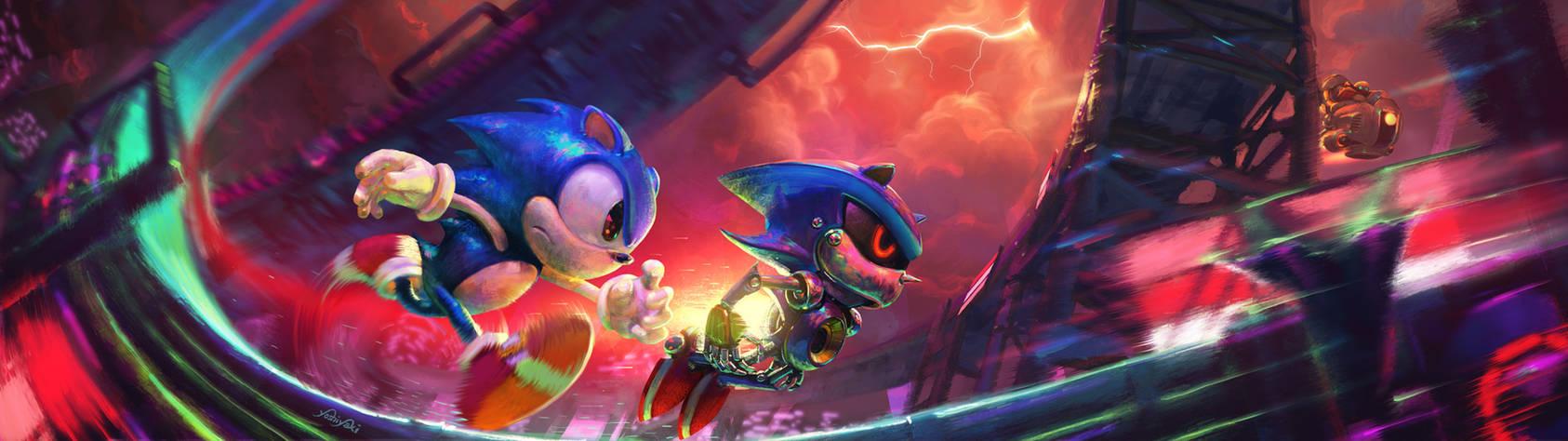Sonic CD Stardust Speedway Fanart