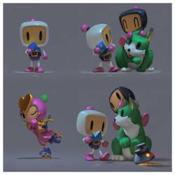 Bomberman 3 (study) by yoshiyaki