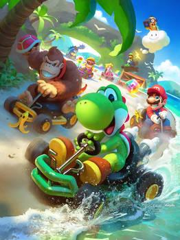 Koopa Beach - Mario Kart 64 Fanart