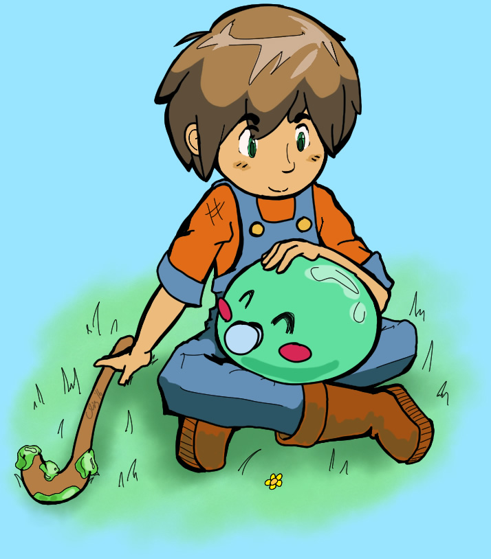 A boy and his slime by Flashkirby-99