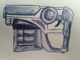 Gun Pen Sketch by Flashkirby-99