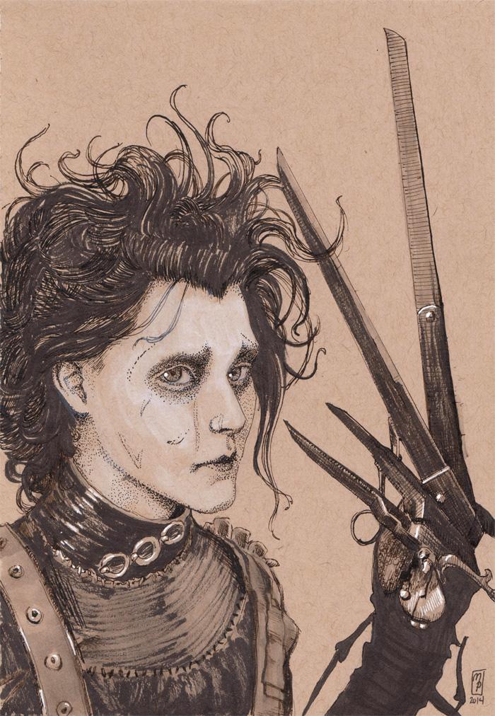 Edward Scissorhands - Inktober Day #15 by MichellePapadopoulos