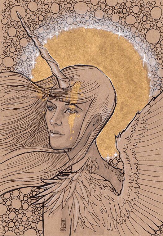 Unicorn Pegasus Girl by MichellePapadopoulos