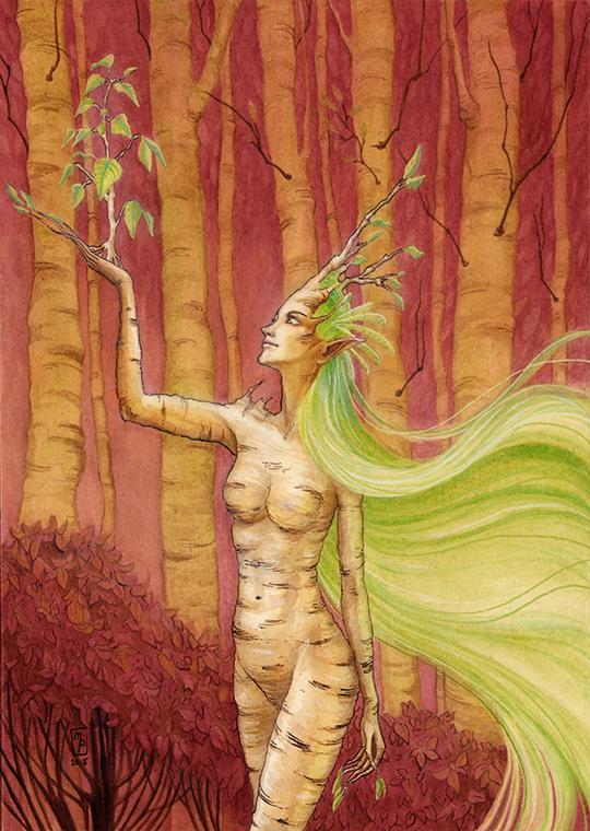 Birch Dryad by MichellePapadopoulos