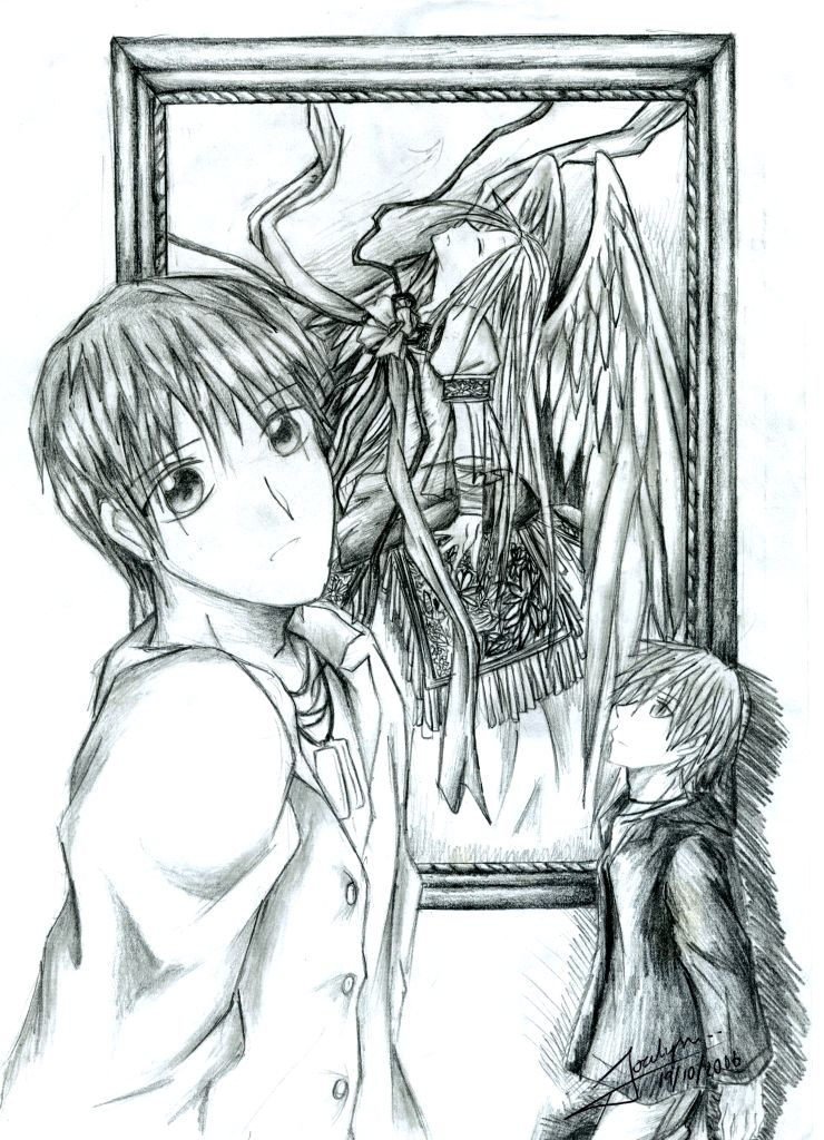 Fallen angel drawing by kimyurie on deviantart fallen angel drawing by kimyurie thecheapjerseys Choice Image