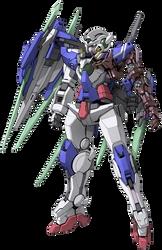 GN-001REIV Gundam Exia Repair IV render by Zer0stylinx