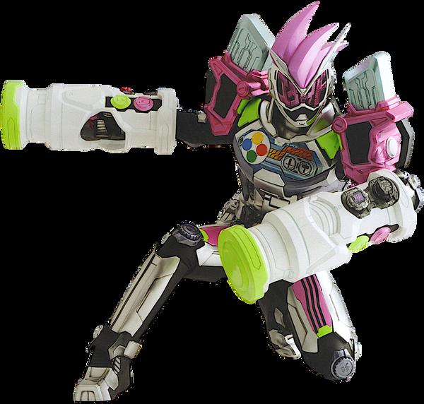 Kamen Rider Zi-O Ex-Aid Armor render by Zer0stylinx on