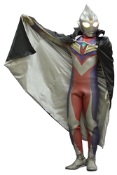 Ultraman Tiga Black Cape render 3