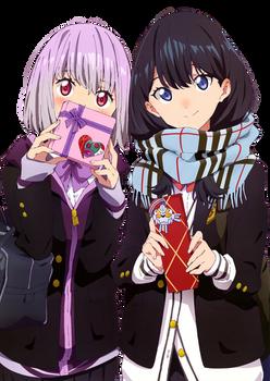 SSSS.GRIDMAN Rikka and Akane render 2