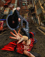 super heroine vs red scarlet