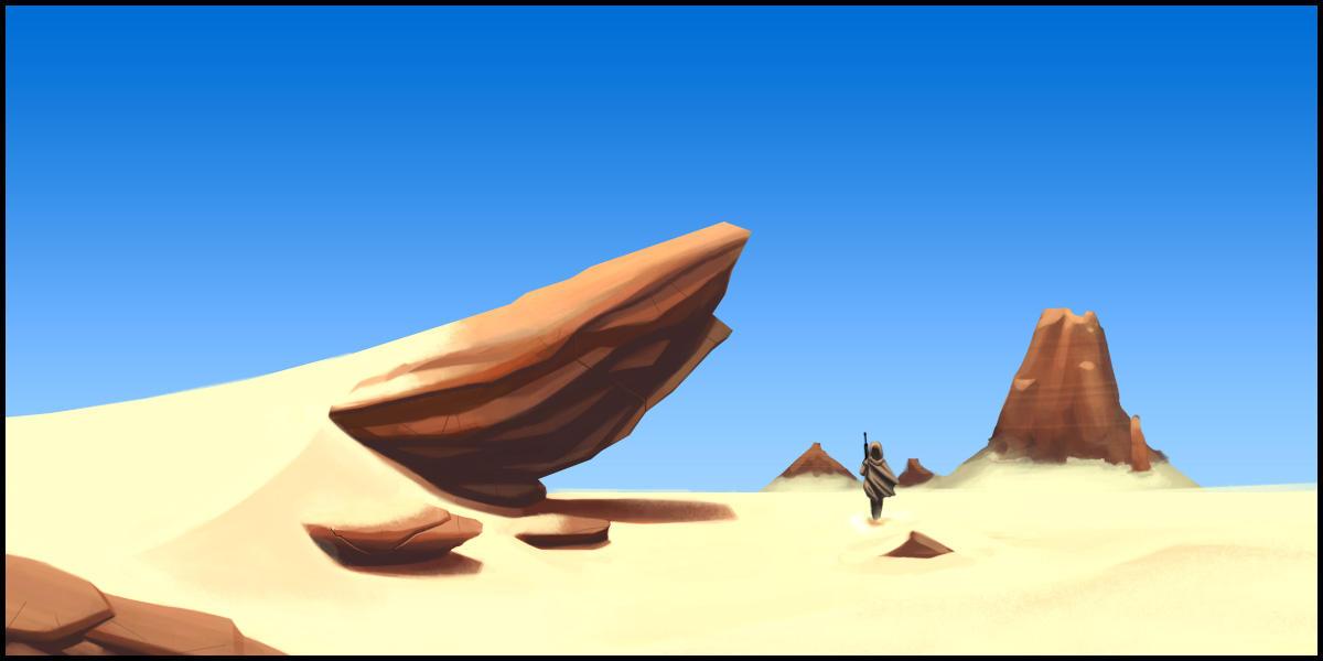 Rocky Desert Environment 003 by shakken