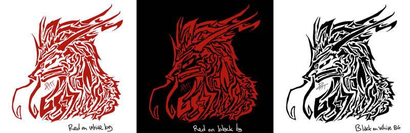 Tribal Dragon Design