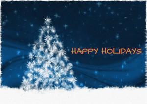 Holidays Tree with snow