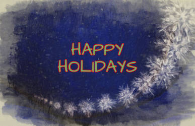 Holidays snowflakes