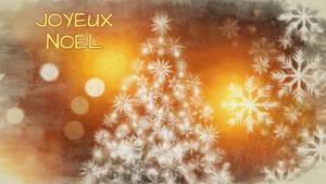 Flocons de Noel  avec sapin
