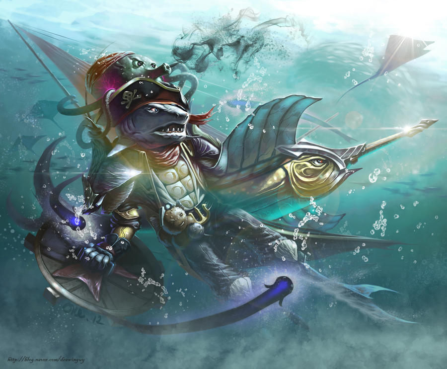 shark pirate by drawinguy