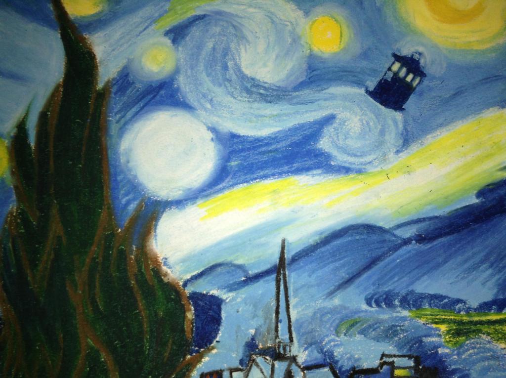 Van Gogh Starry Night Tardis Starry Night Van Gogh