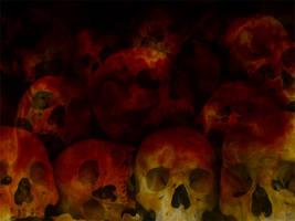 Fiery Skulls by nara6200