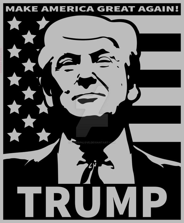 Donald trump make america great again by icheep4love on for Make america great again wallpaper
