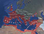 Roman Empire: Tetrarchy A.D. 300