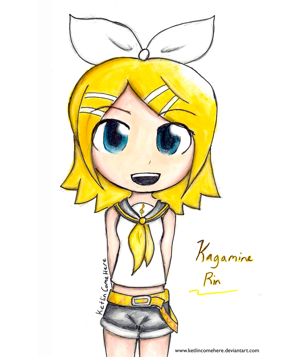 How I Draw Kagamine Rin Chibi Part 1