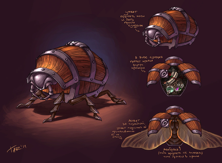 The Beetle Enchantress' chest by JuliaTar on DeviantArt