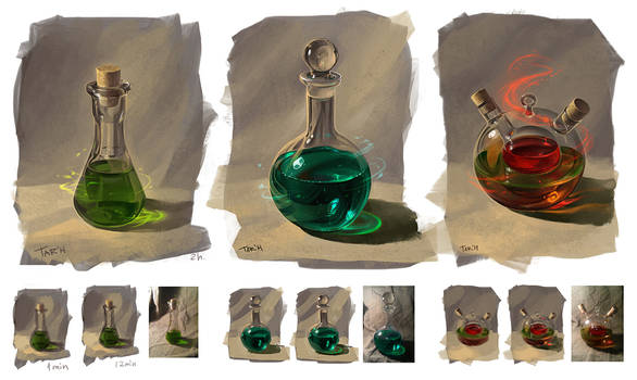 From nature: bottles
