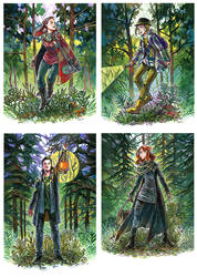 Art for The Woods board game by JuliaTar