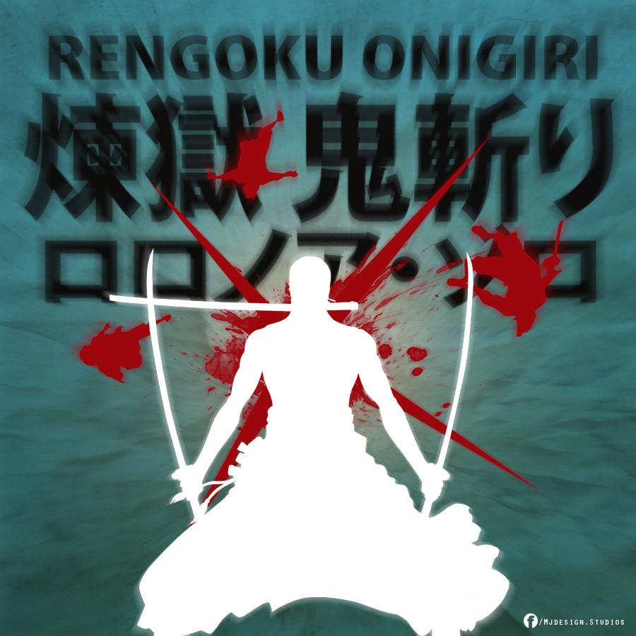 One Piece Zoro Roronoa Rengoku Onigiri By Mjd360 On Deviantart