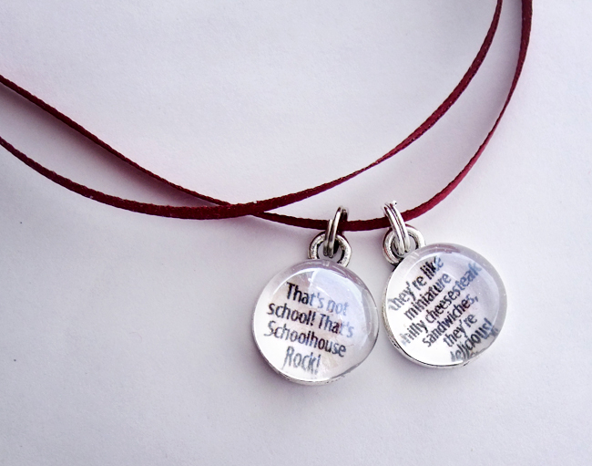 Tiny Glass Text Pendants II by ldhenson