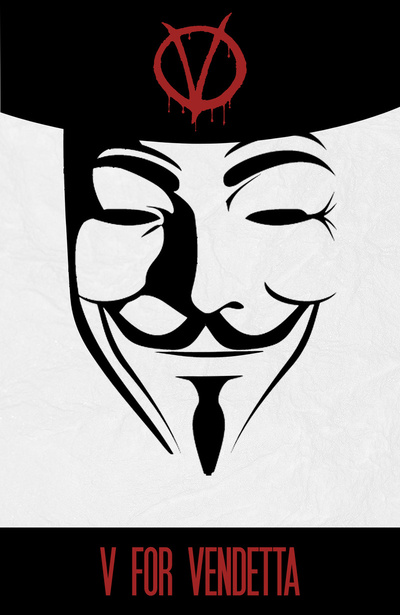 V For vendetta Minimal Poster by miserym