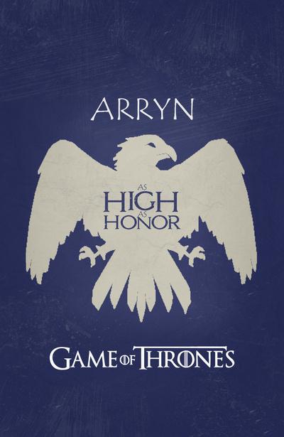 Game Of Thrones - Arryn by miserym