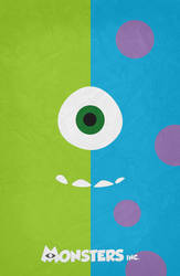 Monsters Inc. Minimalist Poster