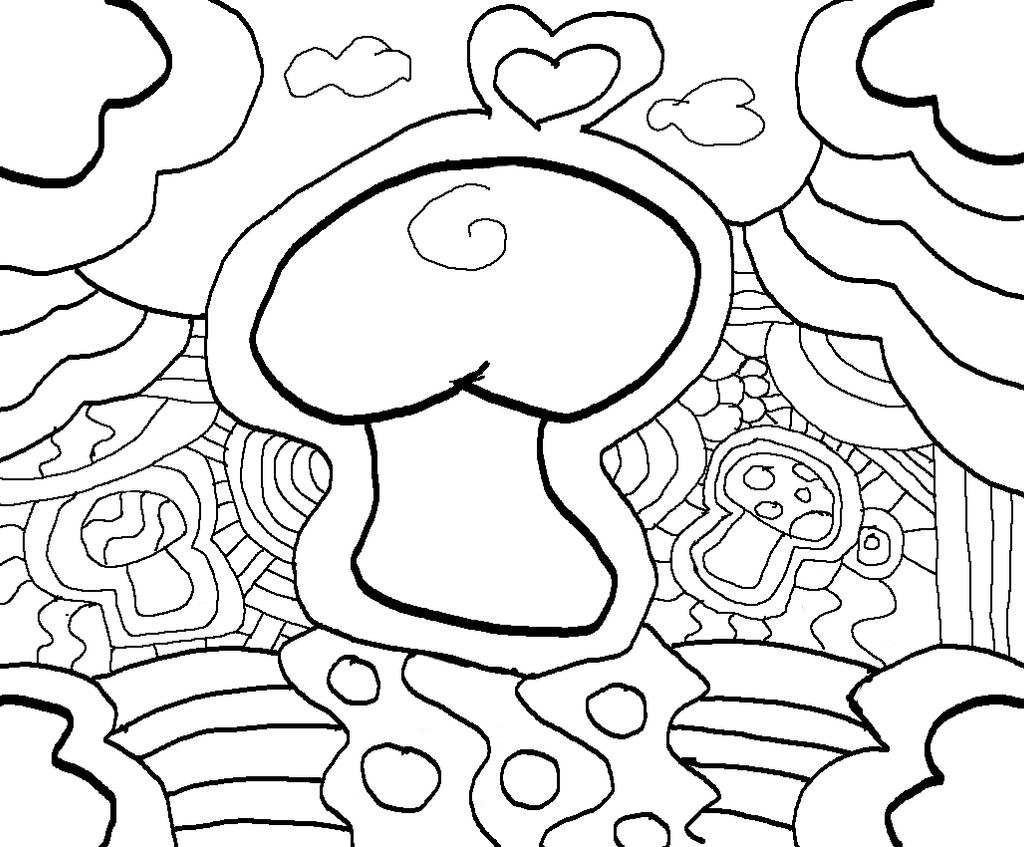 Trippy lineart 1 by liquidcandyrainbow on deviantart for Trippy coloring pages