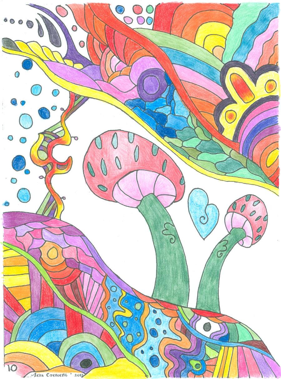 Mushroom Coloring Book P10 Example By LiquidCandyRainbow