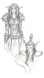 Messy WoW sketches by kalizk