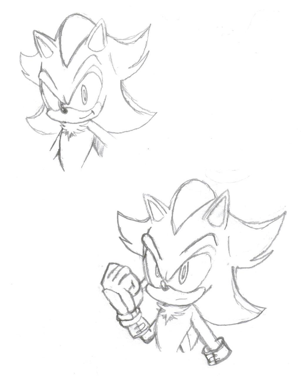 Sonic Boom Shadow sketch by teniuq4444 on DeviantArt