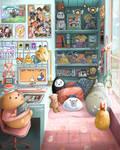 An Otaku's Dream Room - Fan Art Drawing