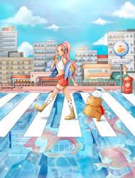 Whimsical Painting - Japanese Anime Style