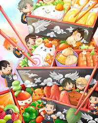 Haikyuu x Christmas Bento - Fan Art