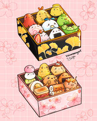 Sakura and Ginkgo Bento Boxes