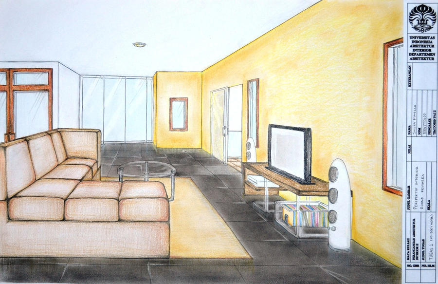 Interior perspective of a bedroom bedroom review design for Bedroom 2 point perspective