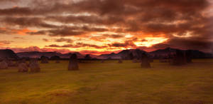 Castlerigg stormy sunset by chrispye77