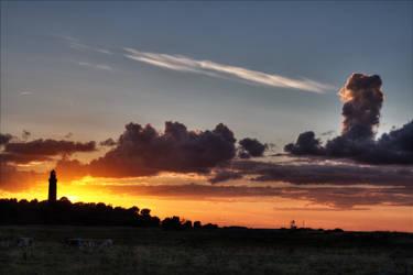 Lighthouse - Sunset by Taku-Aoi